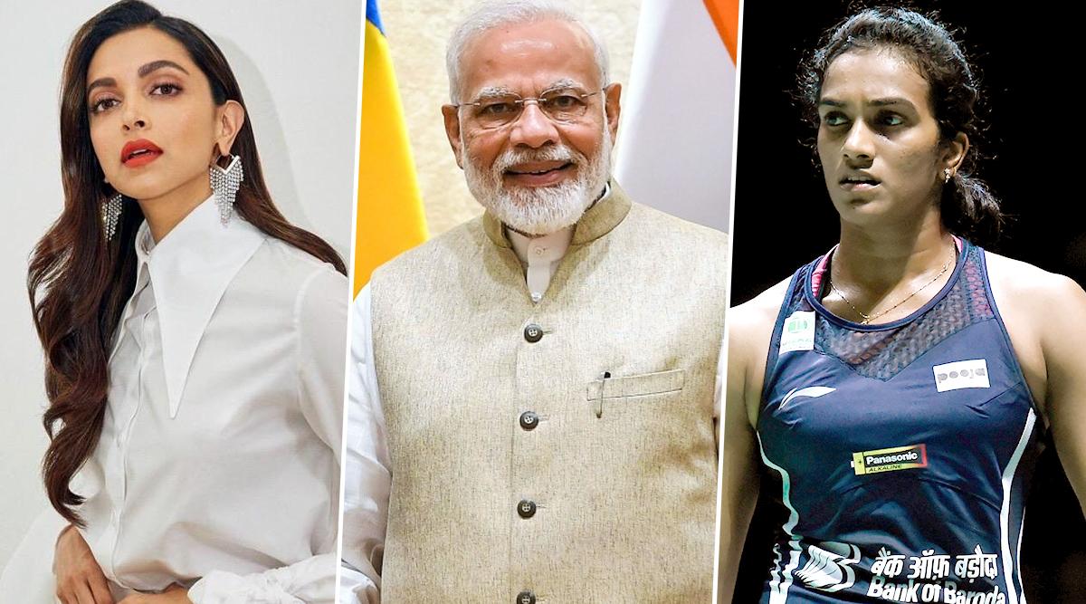 Deepika Padukone and PV Sindhu Become the Face of PM Modi's #BharatKiLaxmi Campaign (Watch Video)