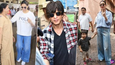 Maharashtra Assembly Elections 2019: Shah Rukh Khan, Deepika Padukone, Kareena Kapoor Khan With Taimur Cast Vote! (View Pics)
