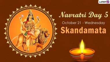 Navratri 2020 Skandamata Puja: Know The Colour and Goddess of Day 5 to Worship The Fifth Avatar of Maa Durga This Sharad Navaratri