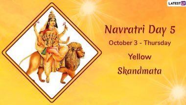 Navratri 2019 Day 5 Colour and Goddess: Worship Devi Skandamata, the Fifth Avatar of Maa Durga This Sharad Navaratri