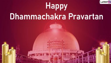 Dhammachakra Pravartan Day 2019 Greetings: WhatsApp Stickers, Facebook Status, BR Ambedkar Images, SMS And Messages to Wish on DhammaChakra Anupravartan Din