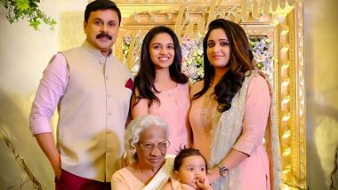 Malayalam Actors Dileep-Kavya Madhavan's Daughter Mahalakshmi Turns 1, Superstar Shares a Perfect Family Pic on Facebook