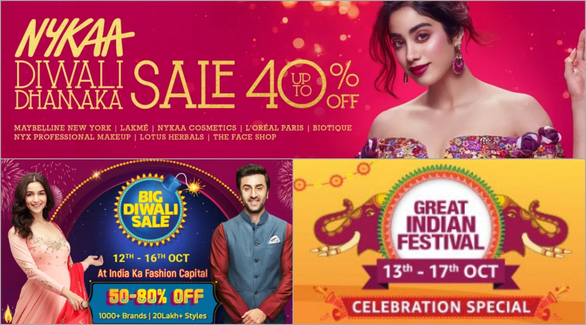 Diwali 2019 Sale and Offers: Online Discounts on Amazon Great Indian Festival, Nykaa, Flipkart, Bigbasket, Jabong and Myntra During October Festival