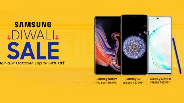 Samsung Diwali Sale 2019: Discounts on Samsung Galaxy Note 10 Series, Galaxy S10, Samsung Galaxy Note 9 & Galaxy M10s This Festive Season