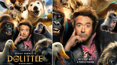 Dolittle First Look Poster: Robert Downey Jr as Dr John Dolittle Surrounded by Furry Friends Is Simply Cute (View Pic)