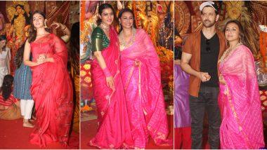 Mahanavami 2019: Alia Bhatt, Hrithik Roshan, Rani Mukerji, Kajol Enjoy Durga Puja Festivities in Mumbai (View Pics)