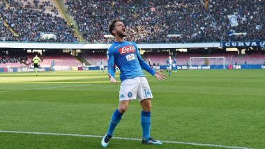 Dries Mertens Surpasses Diego Maradona's Goal Record with a Brace in Napoli's 3-2 Champions League 2019-20 Win Over Red Bull Salzburg