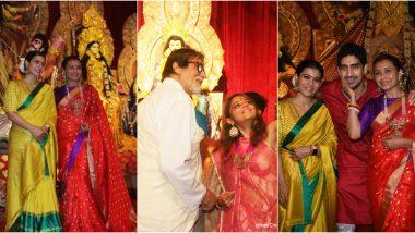 Durga Ashtami 2019 Photos: Rani Mukerji, Kajol, Amitabh Bachchan Celebrate Maha Ashtami at a Mumbai Pandal