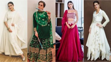 Dussehra 2019 Fashion: 7 Minimalist Ethnic Looks From Actresses Anushka Sharma, Mouni Roy, Kriti Sanon That Will Be Perfect!