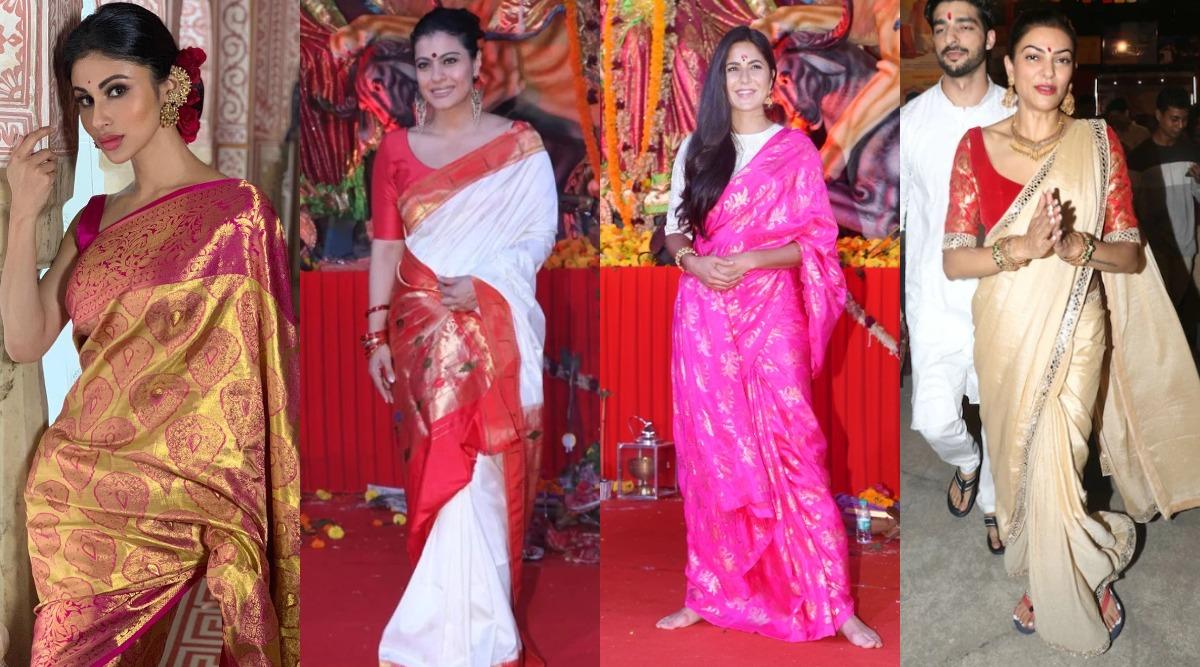 Durga Puja 2019 Fashion: Sushmita Sen, Mouni Roy, Kajol & Other Bollywood Actresses Teach You How To Rock Outings For Pandal Hopping!