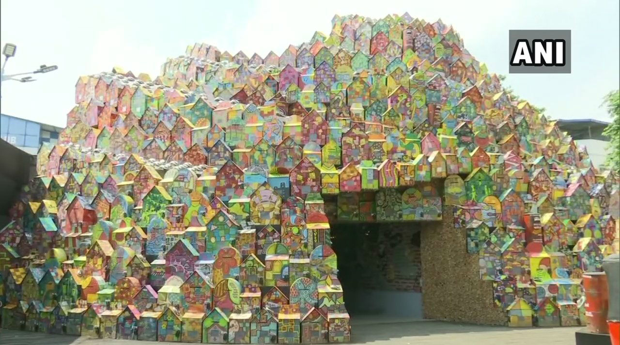 Durga Puja Pandal Decorated with Over 4,000 Letterboxes, Computer Mouse in Kolkata