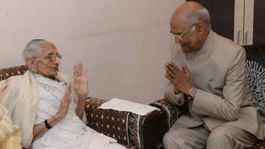 President Ram Nath Kovind Meets PM Narendra Modi's Mother Hiraba in Gujarat