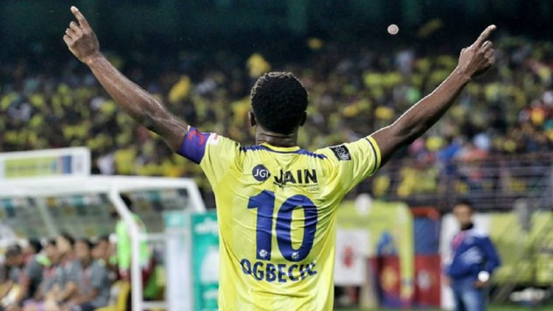 ISL 2019: Bartholomew Ogbeche Brace Helps Kerala Blasters Beat ATK 2–1 in Indian Super League Opener