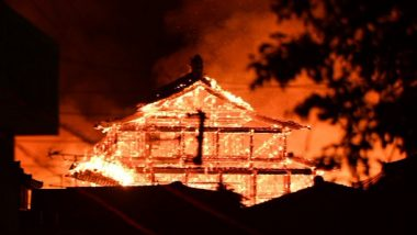 Shuri Castle Fire: 600-Year-Old UNESCO World Heritage Site in Japan's Okinawa Goes Up in Flames