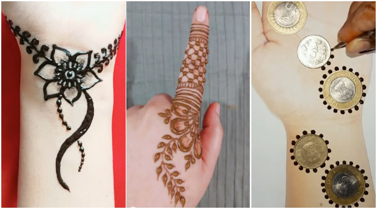5-Minute Quick Mehndi Designs For Diwali 2019: Beautiful Indian Henna Patterns, Arabic Mehandi Designs For The Busy Bees (Watch Videos)