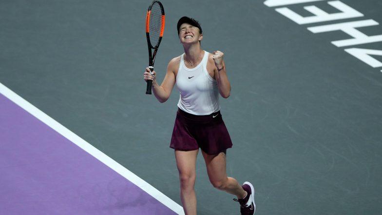 Shenzhen WTA Finals 2019: Elina Svitolina Beats Simona Halep to Reach Semi-Finals