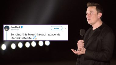 Elon Musk Claims His Twitter Account Tweeted From Space With Starlink Satellite, Twitterati is Amused and Wants The Internet Password