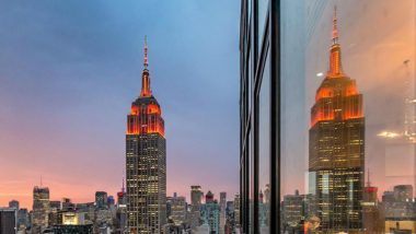 Empire State Building Lit Up in Orange to Celebrate Diwali 2019 (View Pics)