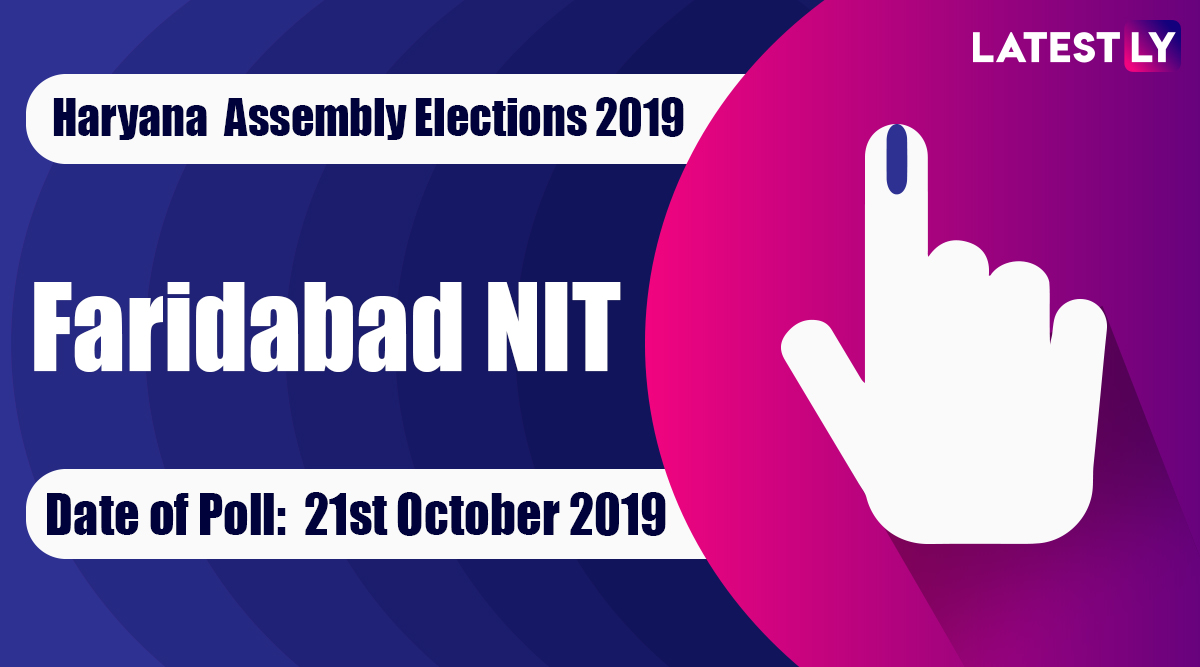 Faridabad NIT Vidhan Sabha Constituency Election Result 2019 in Haryana: Neeraj Sharma of Congress Wins MLA Seat in Assembly Polls