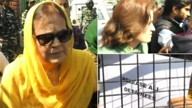 Farooq Abdullah's Sister Suraiya And Daughter Safiya Detained During Agitation Against Article 370 Repeal