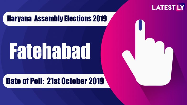 Fatehabad Vidhan Sabha Constituency in Haryana: Sitting MLA, Candidates For Assembly Elections 2019, Results And Winners