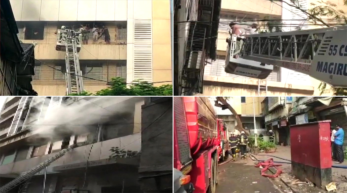 Mumbai: Fire Breaks Out at Aaditya Arcade Building, Trapped People Rescued
