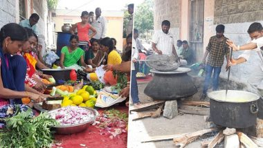TSRTC Bus Strike: Employees Cook Food on Road to Protest Against Death of Road Transport Corporation's Driver
