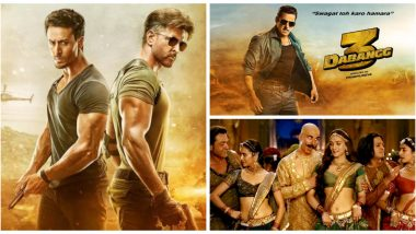From Hrithik Roshan, Tiger Shroff's War to Salman Khan's Dabangg 3, Every Upcoming Bollywood Film of 2019 Expected to Enter the Rs 100 Crore Club