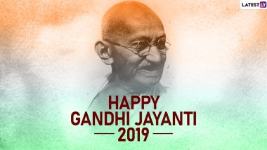 Gandhi Jayanti 2019 Images & HD Wallpapers for Free Download Online: Wish on Bapu's 150th Birth Anniversary With WhatsApp Stickers, Quotes, Facebook Photos and GIF Greetings