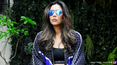 Gauri Khan Looks Ultra Glamorous As She Flaunts Cool Blue Shades and Trendy Calvin Klein Sports Bra! (View Pics)