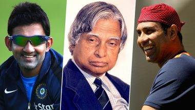 APJ Abdul Kalam 88th Birth Anniversary: Gautam Gambhir, VVS Laxam and Other Members of Cricket Fraternity Remember the 'Missile Man'