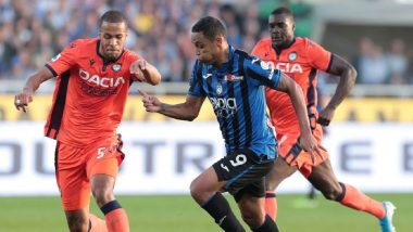 Luis Muriel's Hat-Trick Powers Atalanta to 7-1 Win Over Udinese Calcio, Closes in on Juventus in Serie A Points Table