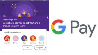 Google Pay Introduces #StampsWaliDiwali: Earn Money on Gpay by Collecting These Stamps for Deepawali 2019