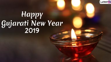 Happy Gujarati New Year 2019 Images & HD Wallpapers For Free Download Online: Wish Nutan Varshabhinandan With WhatsApp Stickers and Vikram Samvat 2076 Greetings