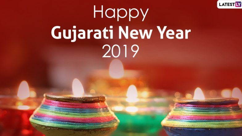 Happy Gujarati New Year 2019 Wishes: WhatsApp Stickers, Naya Saal Greetings, Hike GIF Images, Quotes, SMS And Messages to Send a Day After Diwali