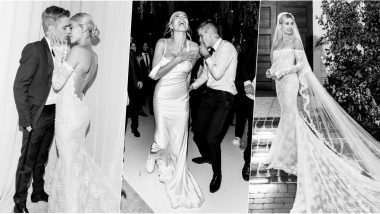 Hailey Baldwin Pairs Wedding Gown With Sneakers for After Party, View Mrs Justin Bieber's Cool Pics!