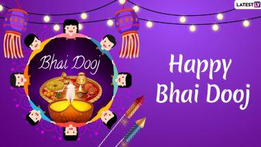 Bhai Dooj 2019 Greetings and Images: WhatsApp Stickers, Bhai Phonta Pics, Bhau Beej Messages, Hike GIF Videos & SMS to Celebrate Last Day of Diwali