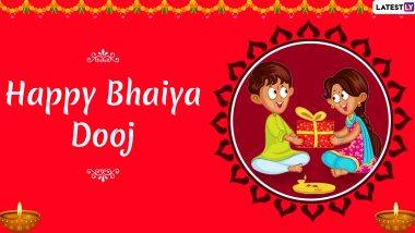 Bhai Dooj 2019 Images & Bhau Beej HD Wallpapers For Free Download Online: Wish Happy Bhai Dooj With WhatsApp Stickers and GIF Greetings
