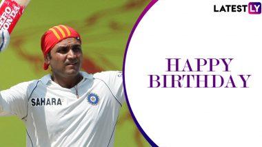 Happy Birthday Virender Sehwag: 5 Mind-Boggling Innings by the 'Nawab of Najafgarh' as He Turns 41
