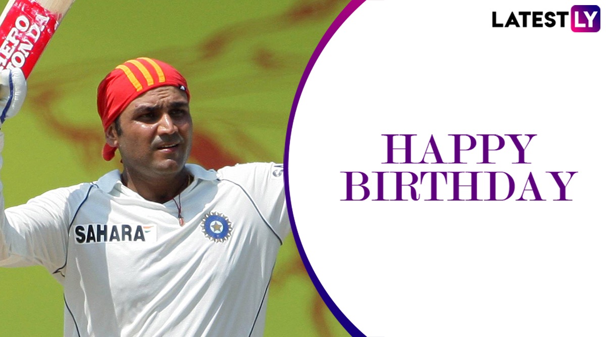 Happy Birthday Virender Sehwag: 5 Mind-Boggling Innings by the 'Nawab of Najafgarh' as He Turns 41