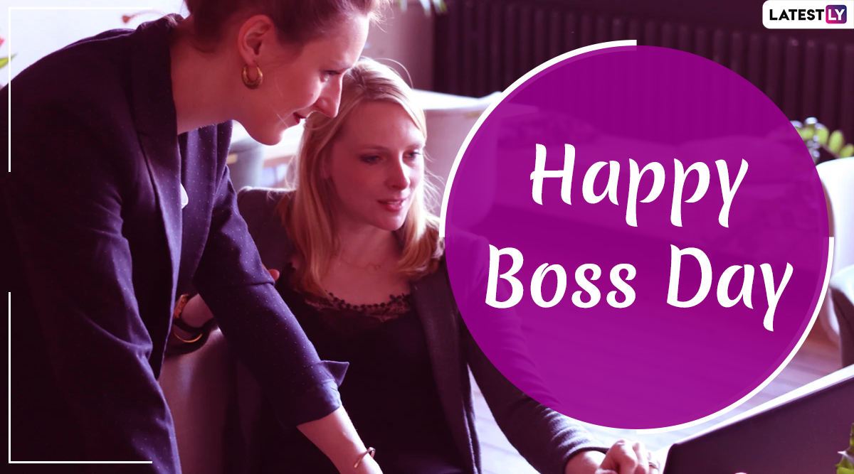 Happy Boss Day 2019 Wishes: WhatsApp Stickers, GIF Images, Gratitude Quotes and Messages to Send Heartfelt Greetings To Your Manager