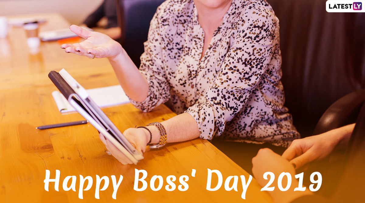 Boss Day Images & HD Wallpapers For Free Download Online: Wish Happy National Boss's Day 2019 With WhatsApp Stickers and GIF Greetings