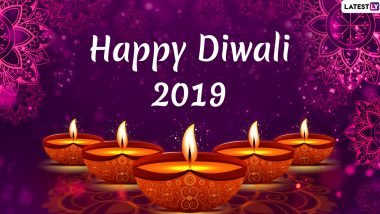 Happy Diwali 2019 HD Images and Greeting Cards Online: WhatsApp Stickers, Deepawali GIF Videos, Hike Messages, Lakshmi-Ganesh Photos, Facebook Wishes, SMS & Quotes to Celebrate the Festival