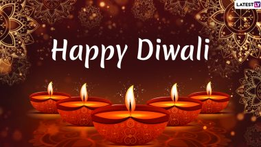 Happy Diwali 2019 Images & Laxmi Puja HD Wallpapers For Free Download Online: Wish Shubh Deepawali With WhatsApp Stickers, Hike GIF Greetings and Messages