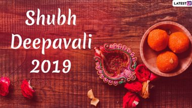 Happy Diwali 2019 HD Images & Wishes: Shubh Deepawali WhatsApp Stickers, Hike GIF Messages, SMS and Laxmi Pooja Photos to Send to Family and Friends