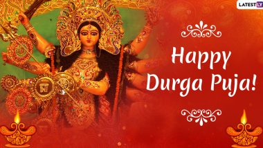 Durga Puja 2020 Wishes in English: WhatsApp Stickers, Maa Durga HD Images, GIF Messages and SMS to Send Happy Durga Pujo Greetings