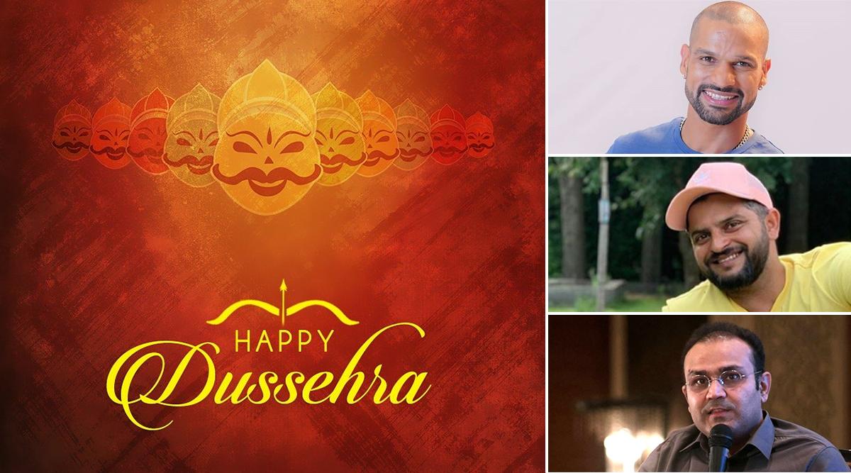 Happy Dussehra 2019: Shikhar Dhawan, Sachin Tendulkar, Suresh Raina Lead Cricket Fraternity in Wishing Fans on Vijayadashmi, View Greetings and GIF Images!