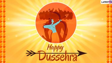 Dussehra 2021 Wishes in Marathi, Greetings and HD Images: Send WhatsApp Stickers, GIFs, Telegram Pics, Facebook Messages and Instagram Photos to Celebrate Vijayadashami