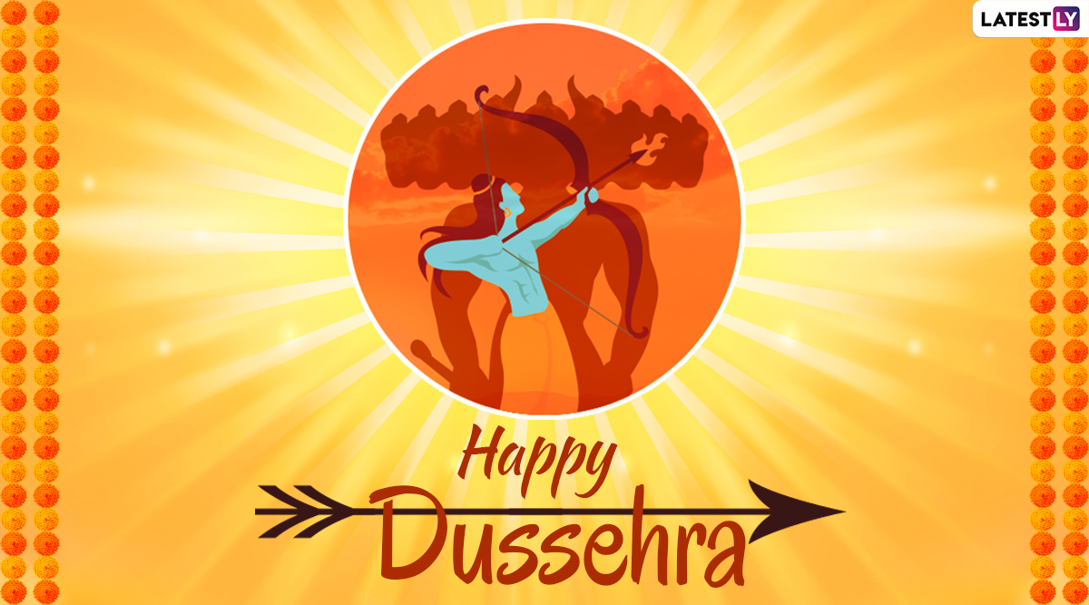 Happy Dussehra 2019 Wishes: WhatsApp Stickers, Ravan Dahan GIF Images, Dasara Greetings, SMS, Quotes and Message For Vijayadashami
