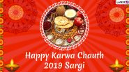 Happy Sargi Wishes: Karwa Chauth 2019 Morning Greetings, WhatsApp Stickers, GIF Images, Quotes And Messages to Share on Karva Chauth